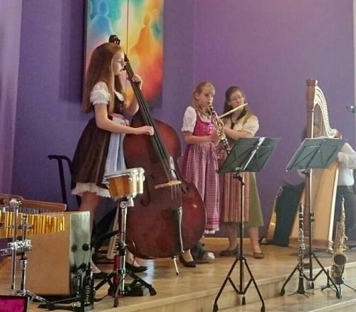 Live als Quartett im Christofferhaus Siegen mit Luisa und Sophie Brückner im Juni 2016